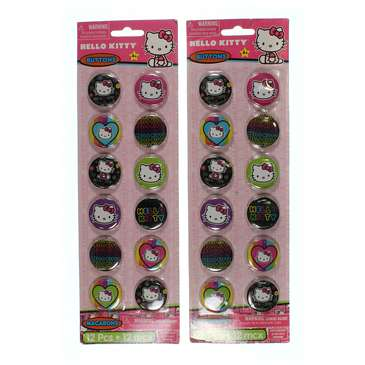 12 Pieces Sewing Buttons White Hello Kitty Crafts Flatback Accessories Fasteners Clothing Sew On for Sale on Swap.com