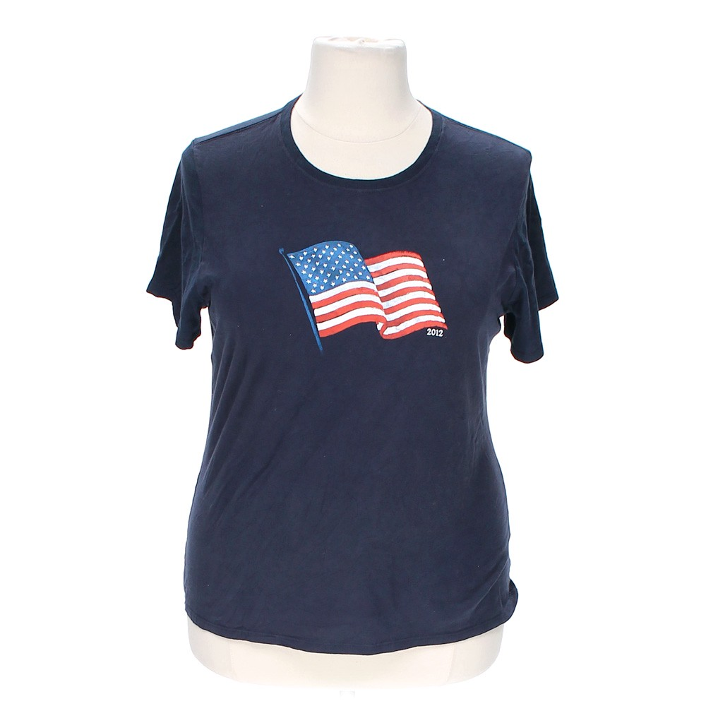 Faded Glory American Flag Tee Online Consignment
