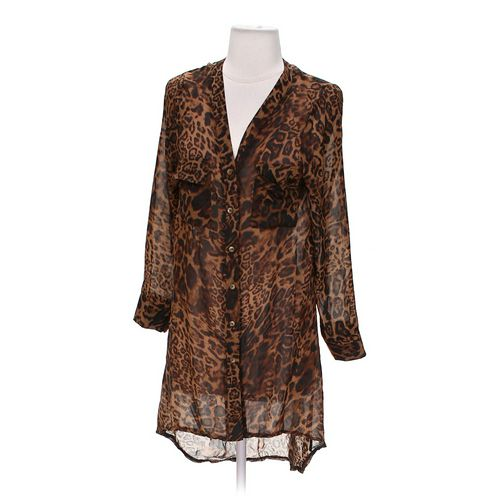 Sassybling Animal Print Button-up Shirt in size S at up to 95% Off - Swap.com