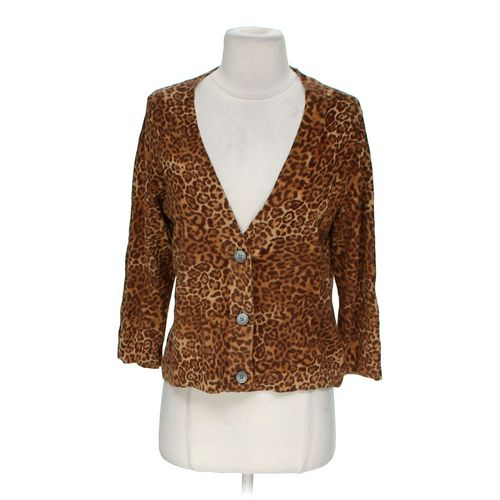 Chaps Animal Print Cardigan in size M at up to 95% Off - Swap.com