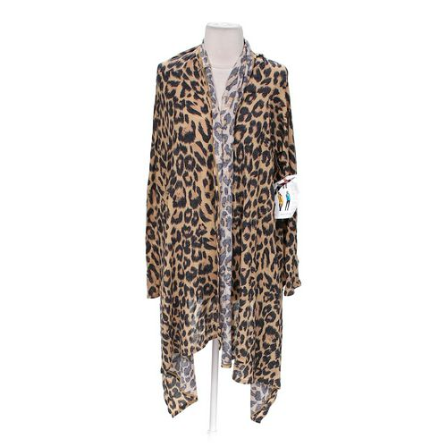 Body Central Animal Print Cardigan in size JR 3 at up to 95% Off - Swap.com