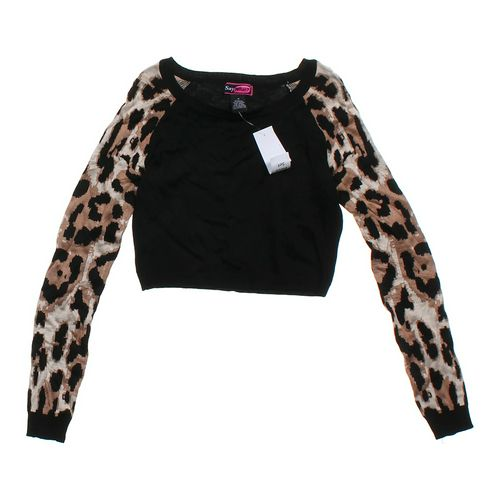 Say What? Animal Print Cropped Shirt in size JR 7 at up to 95% Off - Swap.com