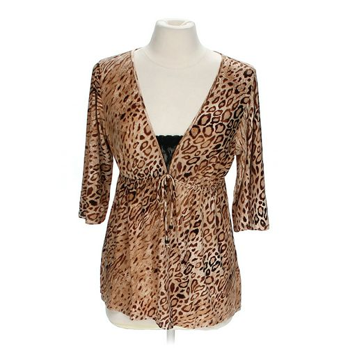 Ambrielle Animal Print Shirt in size M at up to 95% Off - Swap.com
