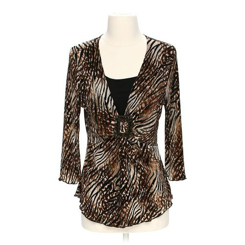 Brittany Black Animal Print Shirt in size S at up to 95% Off - Swap.com