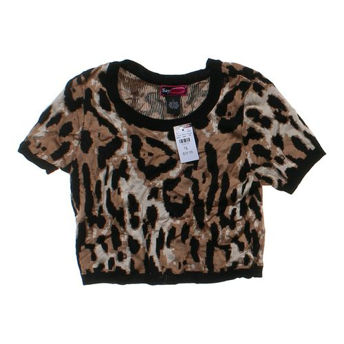 Say What? Animal Print Shirt in size JR 11 at up to 95% Off - Swap.com
