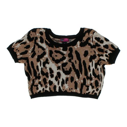 Say What? Animal Print Shirt in size JR 15 at up to 95% Off - Swap.com