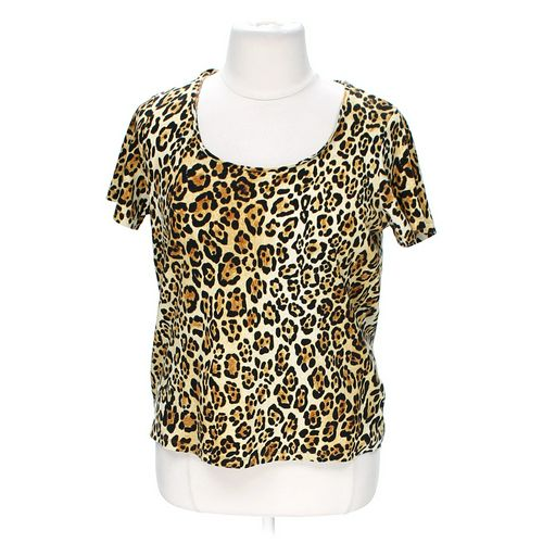 Jones New York Animal Print Tee in size 10 at up to 95% Off - Swap.com