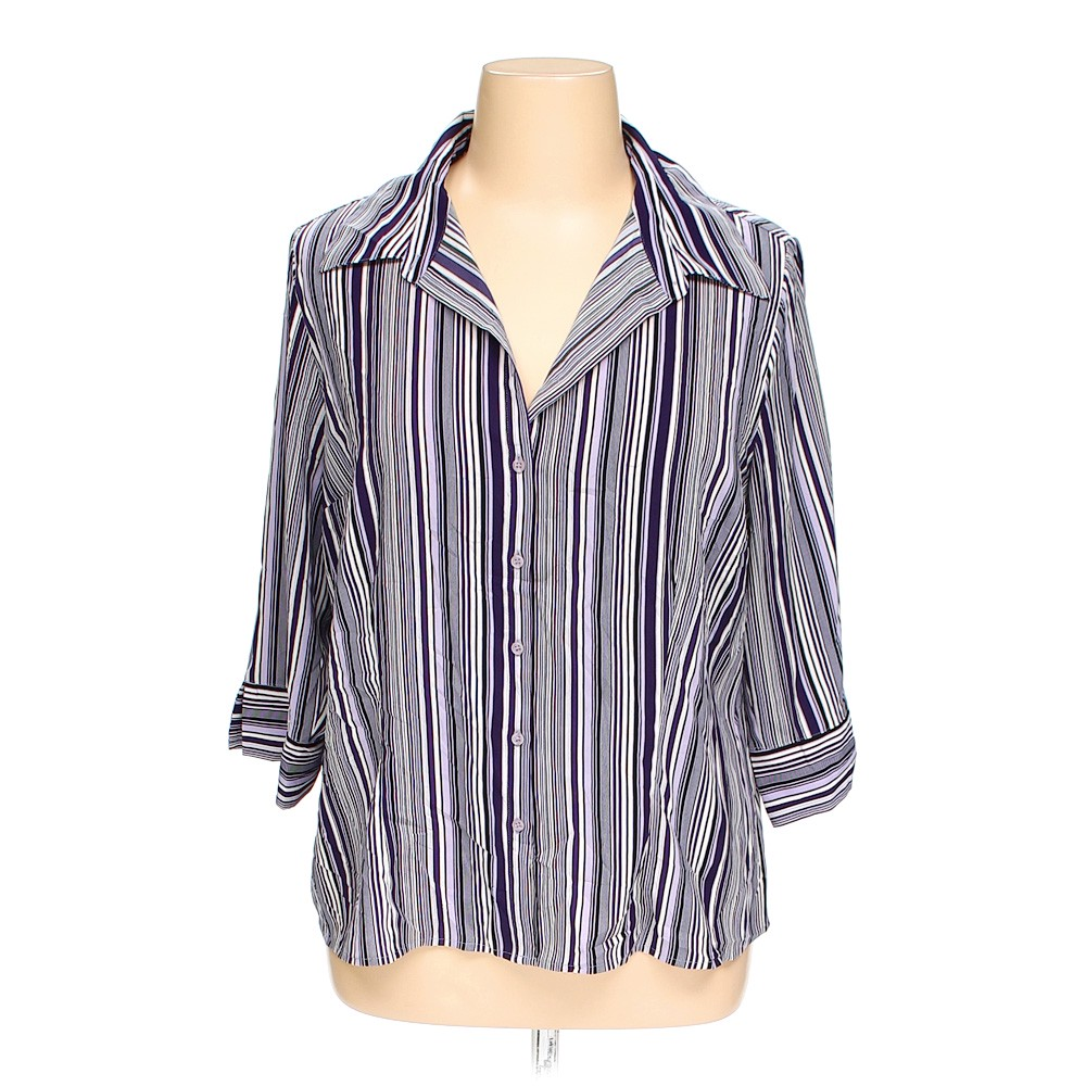 Apt 9 apt 9 button up shirt in size 1x at up to 95 off for Polyester button up shirt
