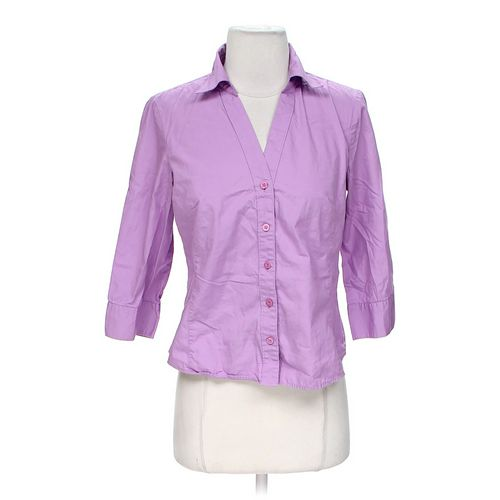 Style & Co Basic Button-up Shirt in size M at up to 95% Off - Swap.com