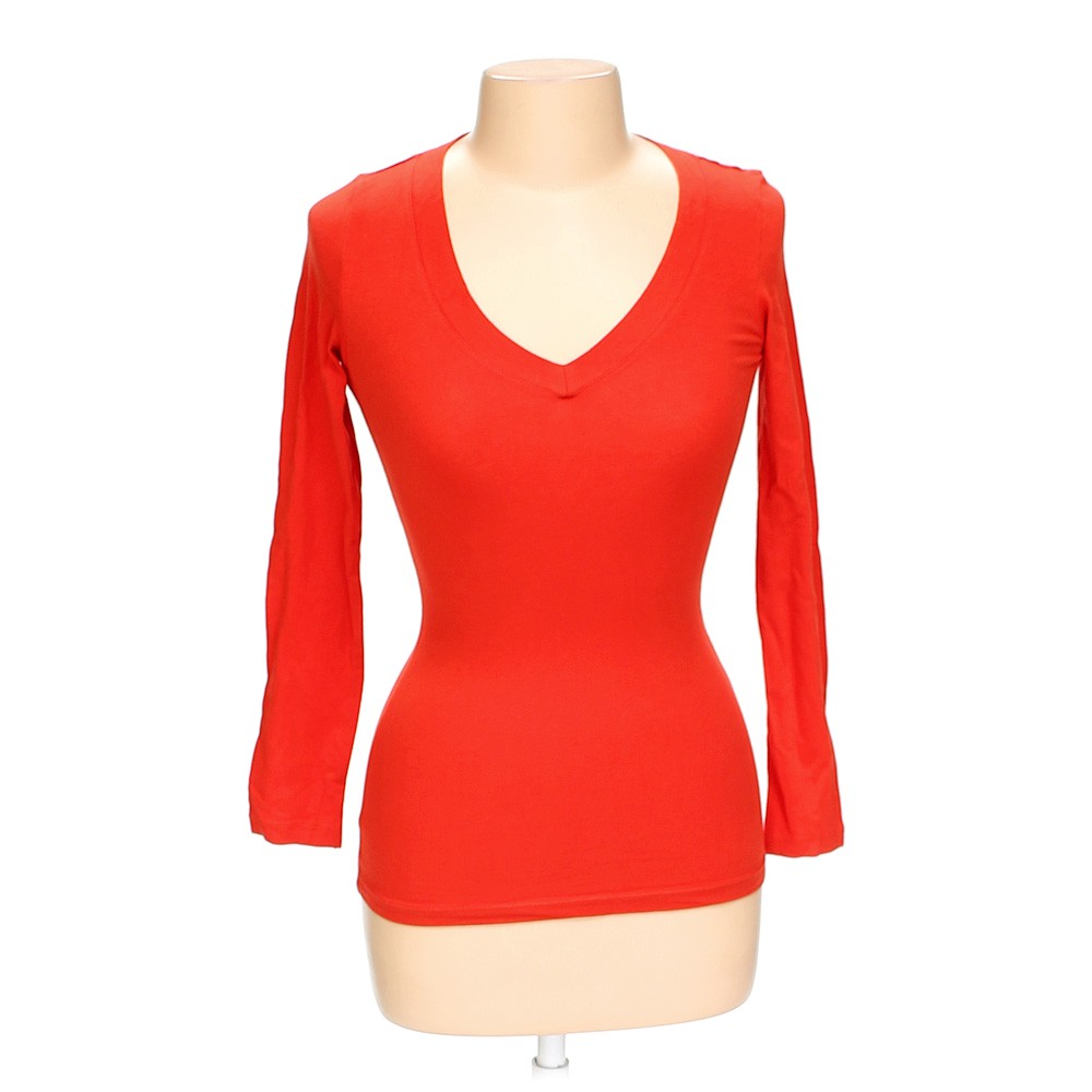 Ambiance Apparel Solid Shirt Size S Orange