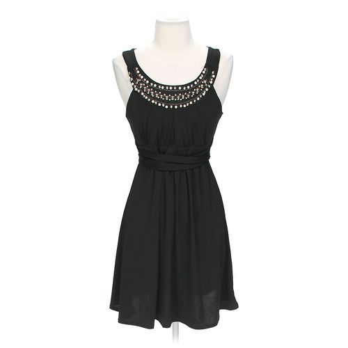 Delusional Bead Accented Dress in size JR 3 at up to 95% Off - Swap.com