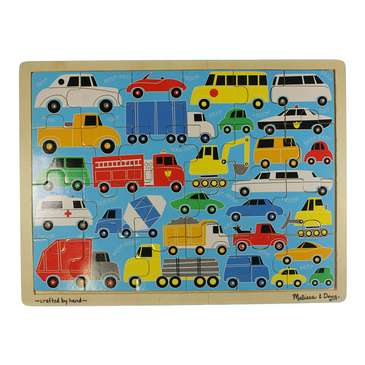 Beep Beep Cars & Trucks Wooden Jigsaw Puzzle for Sale on Swap.com