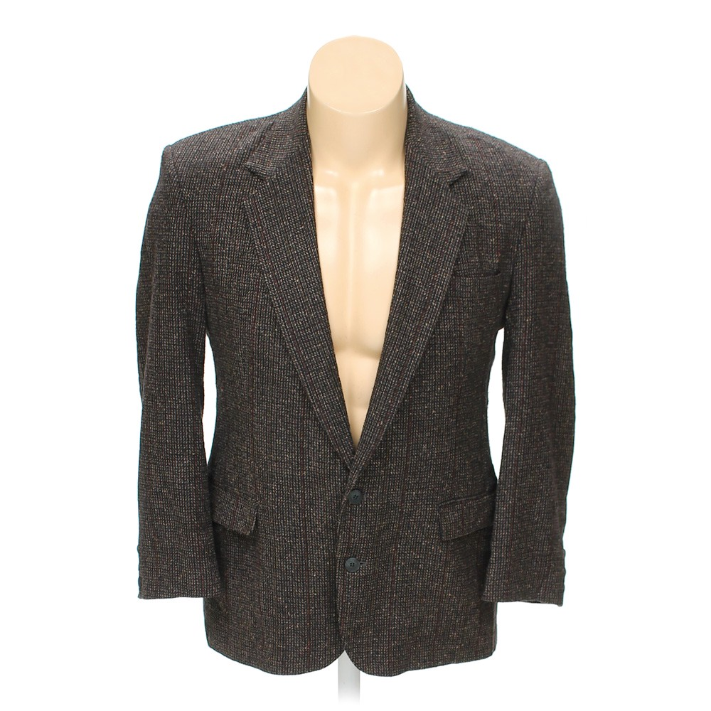 "Brown Haggar Blazer In Size 46"" Chest At Up To 95% Off"