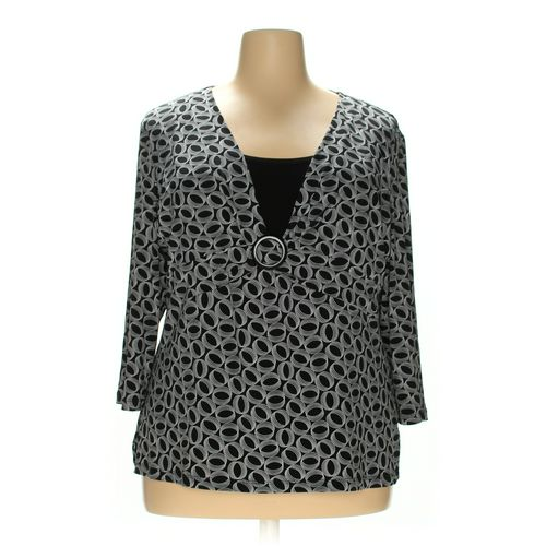 JM Collection Blouse in size 2X at up to 95% Off - Swap.com