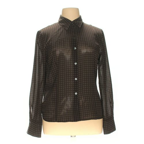 New York Company Polyester Blouse Size Xl Brown