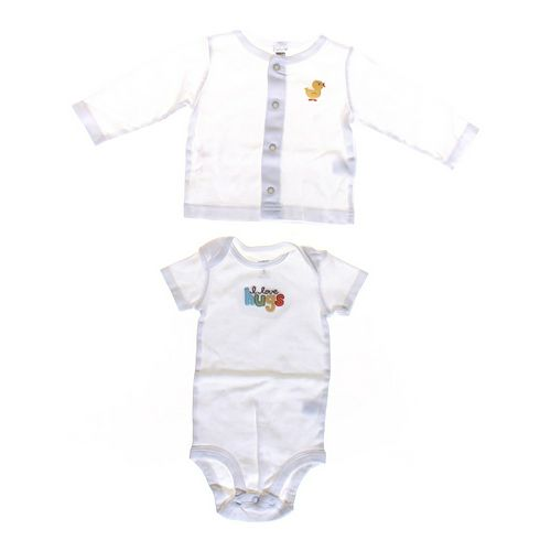 Carter's Bodysuit & Long Sleeve Shirt Set in size 6 mo at up to 95% Off - Swap.com