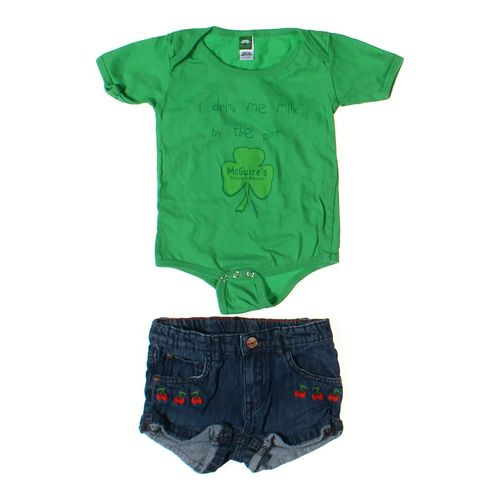 Precious Cargo Bodysuit & Shorts Set in size 12 mo at up to 95% Off - Swap.com