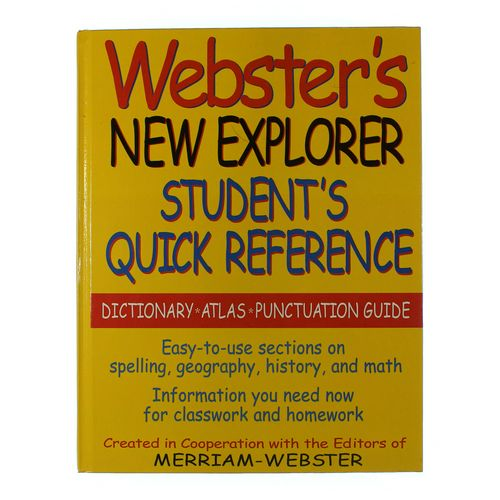 Book: Webster's New Explorer Student's Quick Reference at up to 95% Off - Swap.com