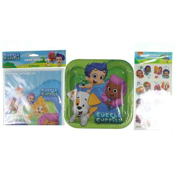 """Bubble Guppies 7"""" Square Plate, 8 Count, Party Supplies Novelty for Sale on Swap.com"""