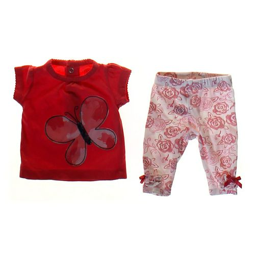 Just One You Butterfly Shirt & Flower Print Leggings in size NB at up to 95% Off - Swap.com