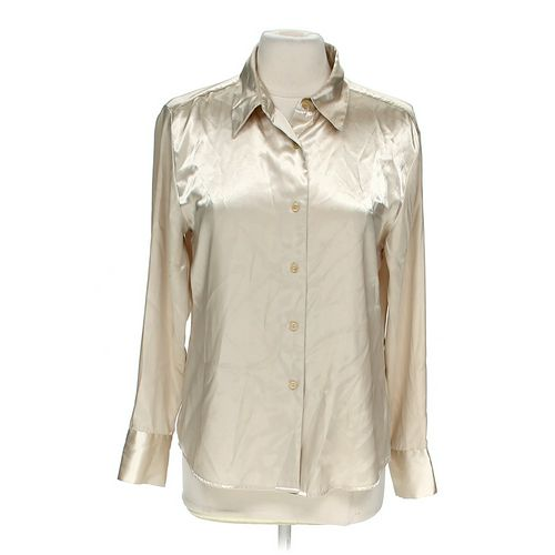 Jaclyn Smith Button Down Blouser in size M at up to 95% Off - Swap.com