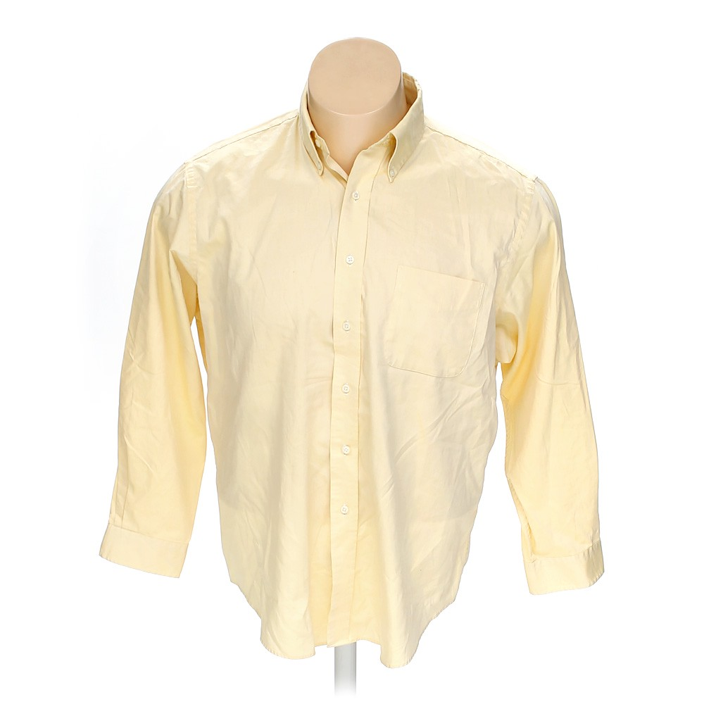 American Living Cotton Button Down Long Sleeve Shirt Size 58 Chest