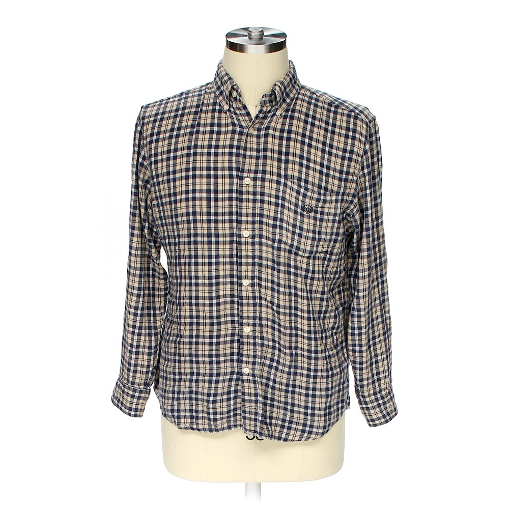 Chaps button down long sleeve shirt in size m at up to 95 for Chaps shirts on sale