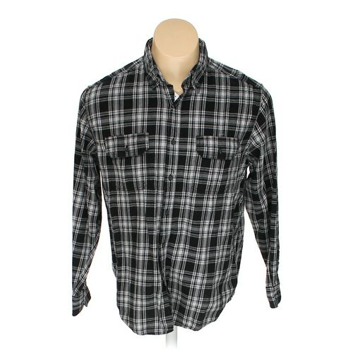Faded Glory Button-down Long Sleeve Shirt in size L at up to 95% Off - Swap.com