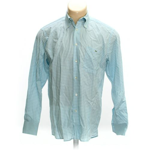 """Lacoste Button-down Long Sleeve Shirt in size 42"""" Chest at up to 95% Off - Swap.com"""