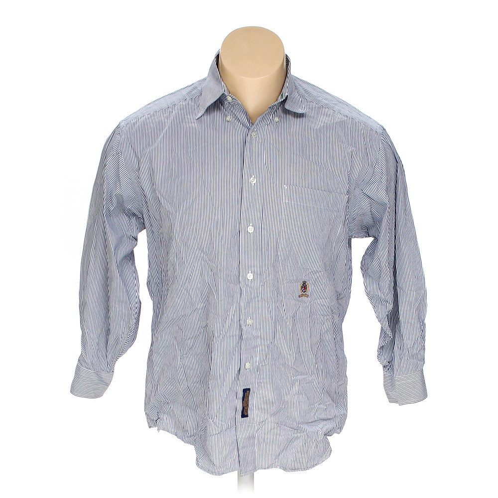 7df70190 Tommy Hilfiger Striped Cotton Button-down Long Sleeve Shirt, Size 52 ...