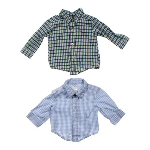 Lands' End Button-down Shirt Set in size NB at up to 95% Off - Swap.com