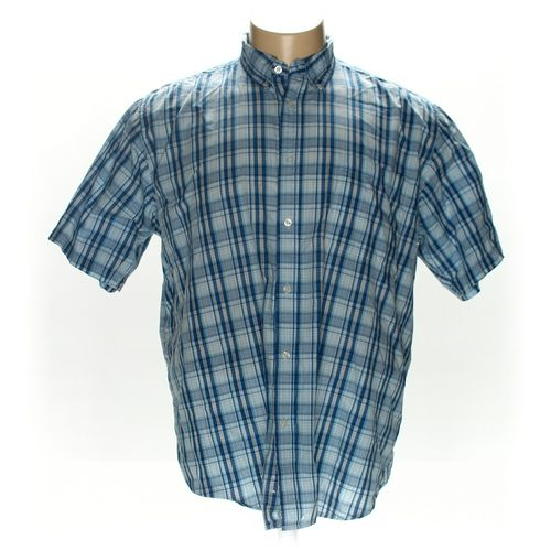 Basic Editions Button-down Short Sleeve Shirt in size 2XL at up to 95% Off - Swap.com