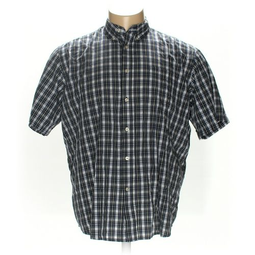 Basic Editions Button-down Short Sleeve Shirt in size XXL at up to 95% Off - Swap.com