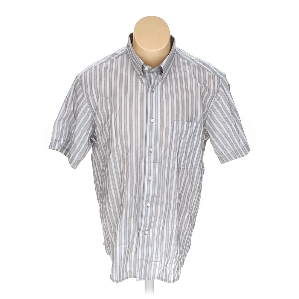 4923398f Haggar Button-down Short Sleeve Shirt in size L at up to 95% Off