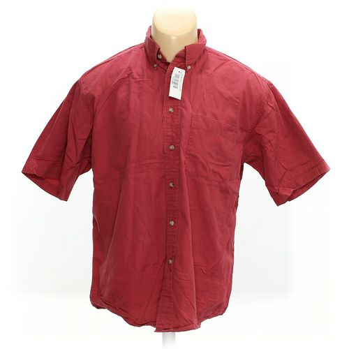 Van Heusen Button-down Short Sleeve Shirt in size L at up to 95% Off - Swap.com