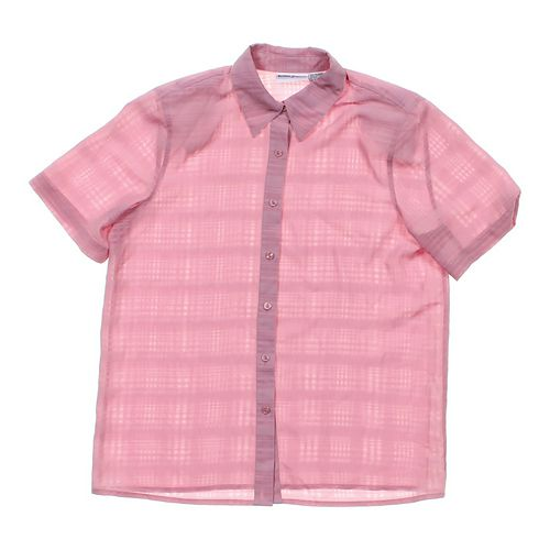 Alfred Dunner Button-up Blouse in size 10 at up to 95% Off - Swap.com