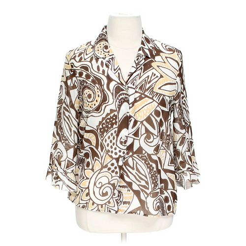 Alfred Dunner Button-up Blouse in size 14 at up to 95% Off - Swap.com
