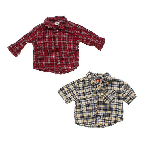 Faded Glory Button-up & Button-down Shirt Set in size 12 mo at up to 95% Off - Swap.com
