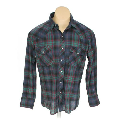 Basic Editions Button-up Long Sleeve Shirt in size L at up to 95% Off - Swap.com
