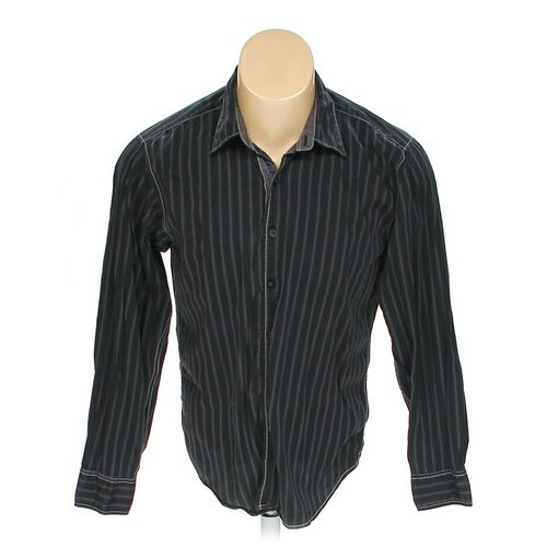 Blue Button-up Long Sleeve Shirt in size M at up to 95% Off - Swap.com