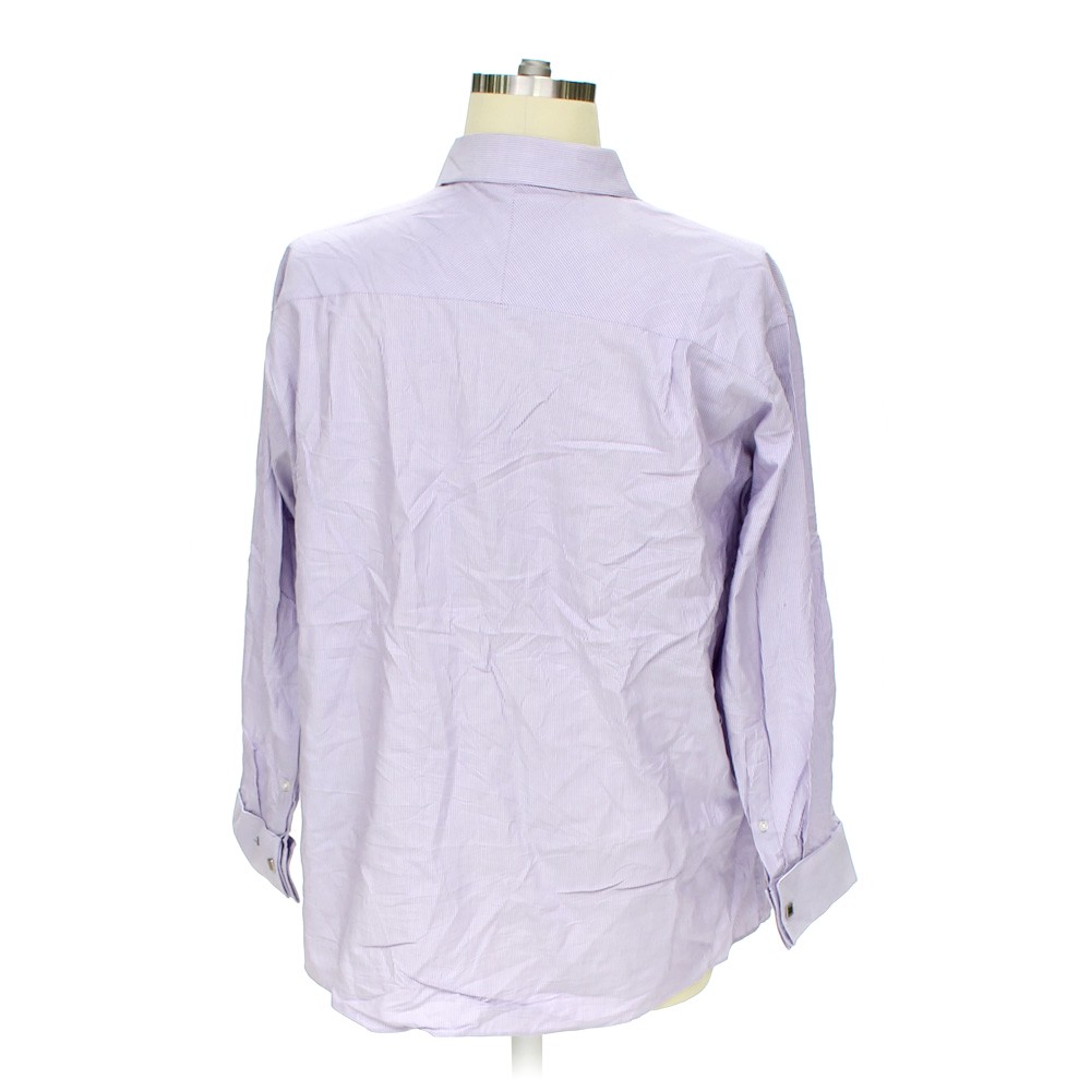Purple calvin klein button up long sleeve shirt in size 50 for 17 33 shirt size