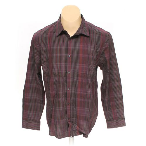 Calvin Klein Button-up Long Sleeve Shirt in size L at up to 95% Off - Swap.com