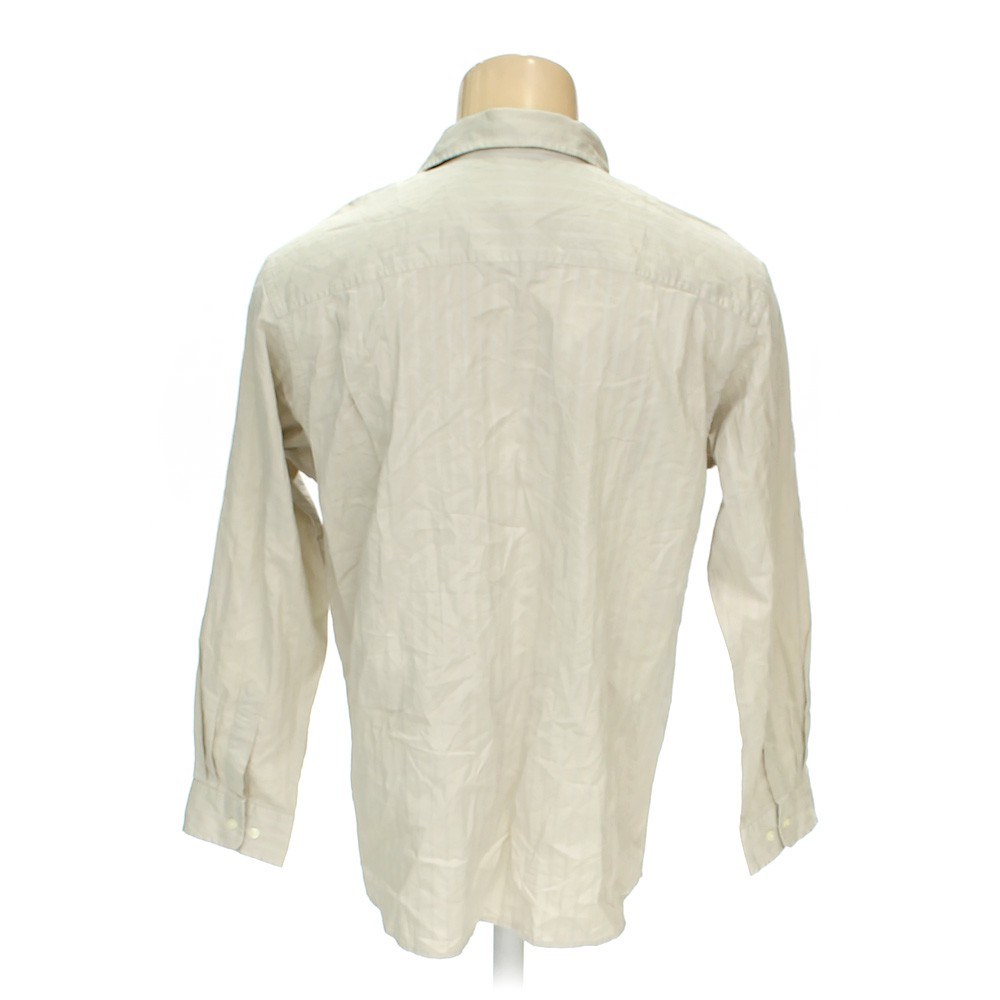 fc604eac5a2 Beige Gap Button-up Long Sleeve Shirt in size M at up to 95% Off ...