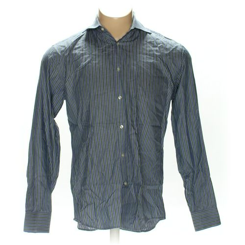 "HUGO BOSS Button-up Long Sleeve Shirt in size 44"" Chest at up to 95% Off - Swap.com"