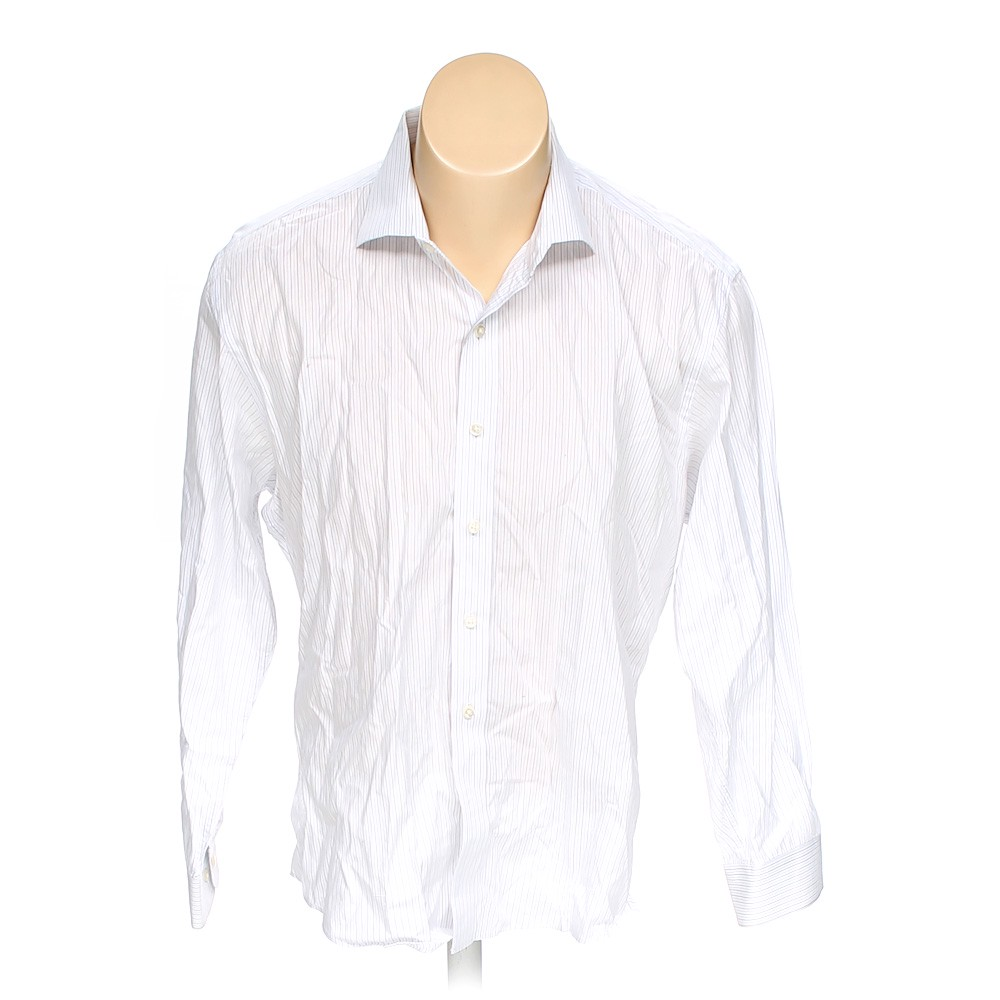 Nautica button up long sleeve shirt in size 48 chest at for 17 33 shirt size