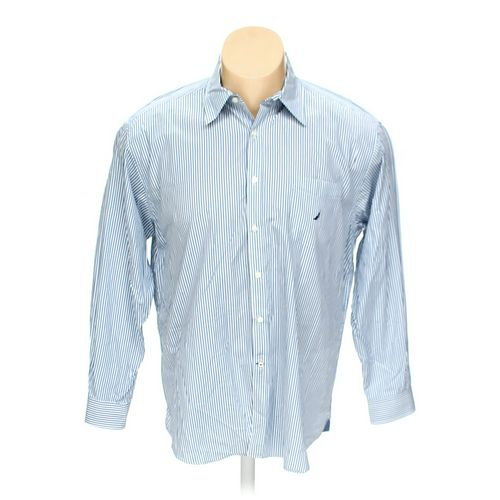 "Nautica Button-up Long Sleeve Shirt in size 54"" Chest at up to 95% Off - Swap.com"