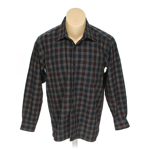 """Qiseniao Button-up Long Sleeve Shirt in size 42"""" Chest at up to 95% Off - Swap.com"""
