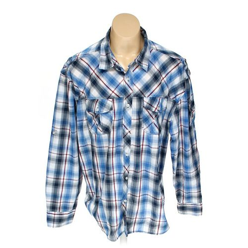 """Southpole Button-up Long Sleeve Shirt in size 44"""" Chest at up to 95% Off - Swap.com"""