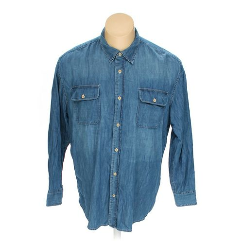 """St. John's Bay Button-up Long Sleeve Shirt in size 36"""" Chest at up to 95% Off - Swap.com"""
