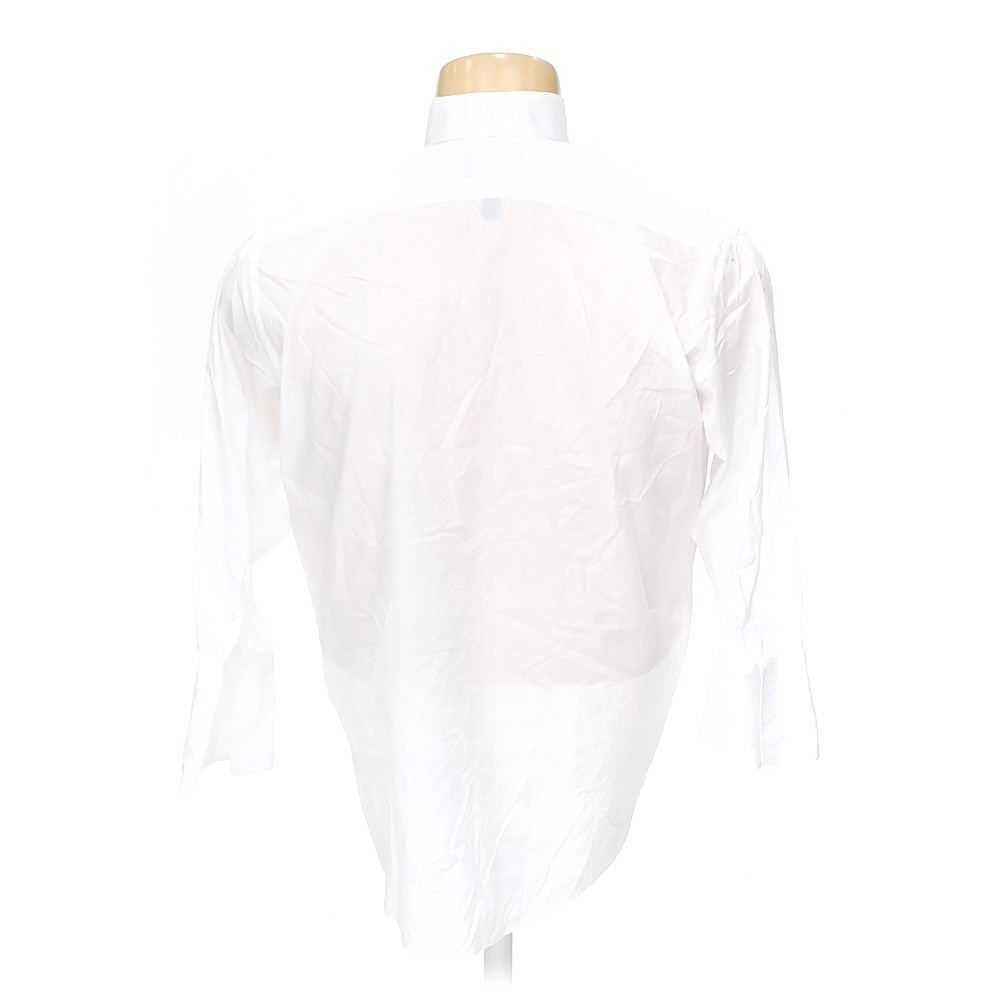 White stafford button up long sleeve shirt in size 52 for 17 33 shirt size